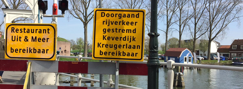 De Overhorn is bereikbaar via het centrum / 's-Gravelandseweg