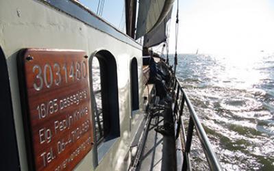 Vanuit Weesp of Muiden het IJsselmeer op